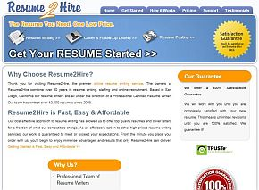 resume2hirecom review companys home page