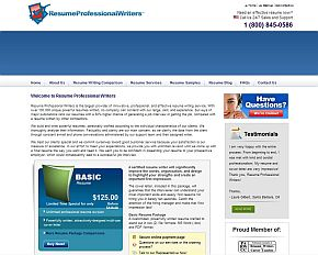 resumeprofessionalwriterscom review companys home page - Professional Resume Writers Reviews