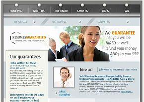 resumes guaranteed review companys home page